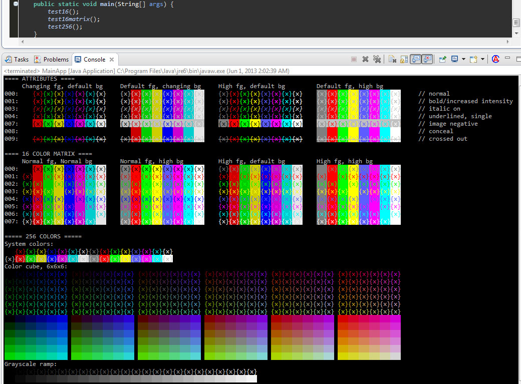 An Eclipse Console View That Respects ANSI Color Codes